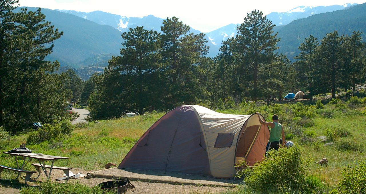camping rocky mountain national park