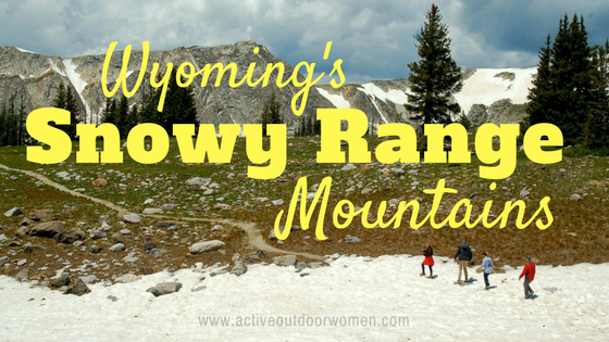 Wyoming's snowy range mountains
