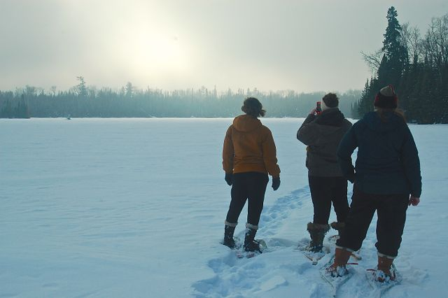 snowshoeing on lakes