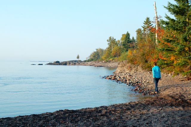 walking lake superior