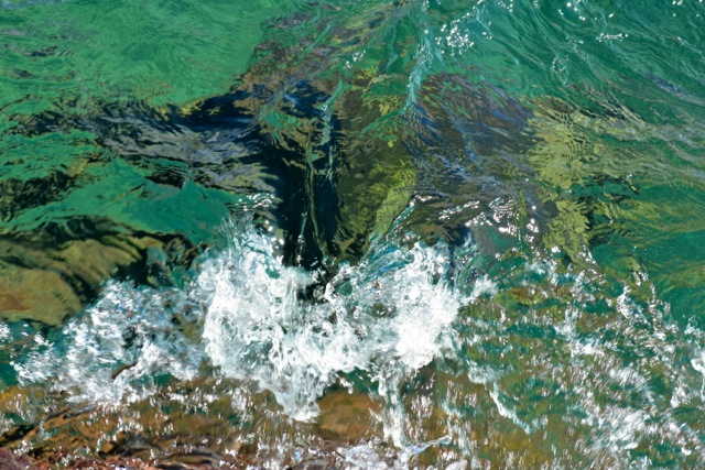 green water of Lake Superior