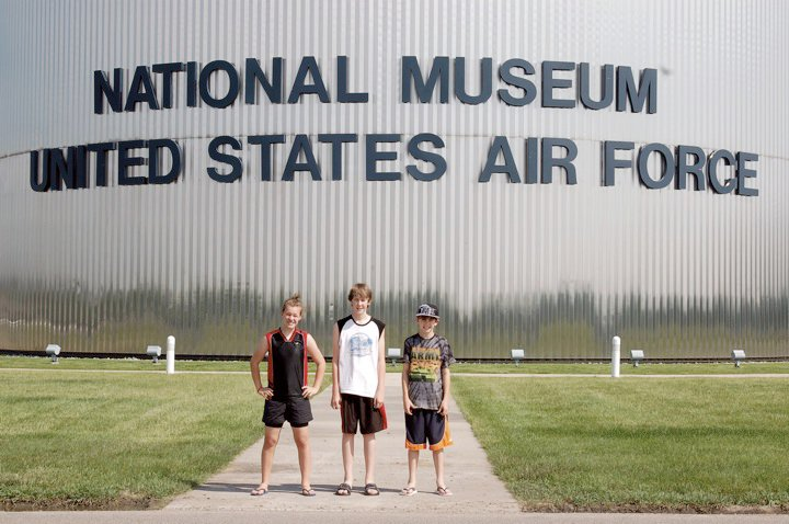 family road trip stop to USAF Museum
