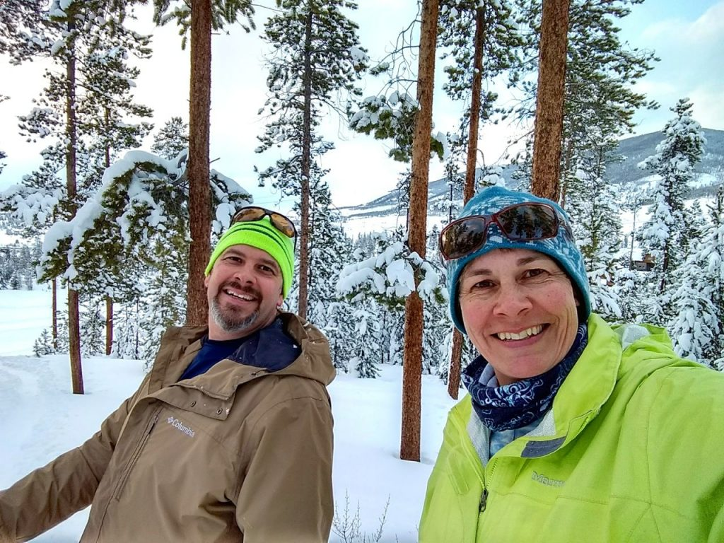 joel and sharon snowshoeing colorado