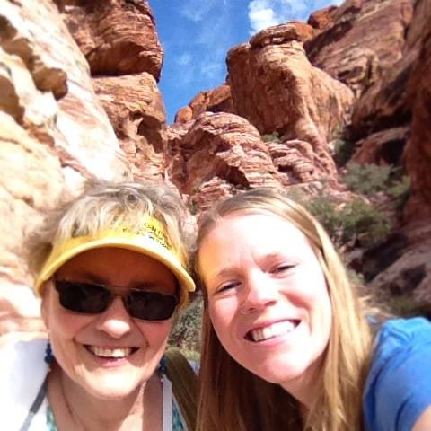 mom and daughter at red rocks