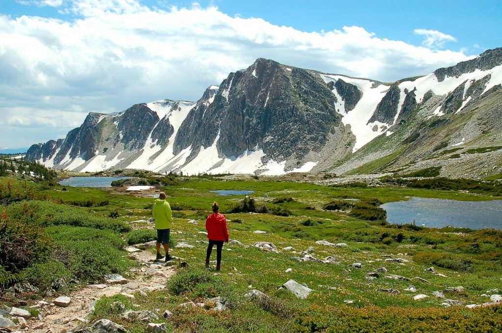 Hiking in the Wyoming mountains