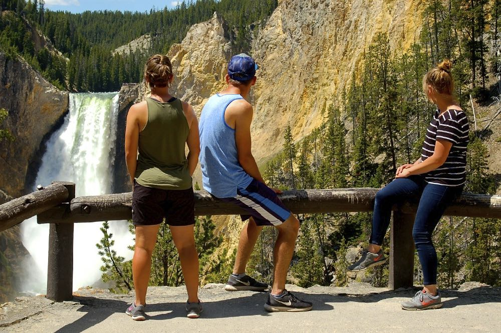 yellowstone's lower falls hike