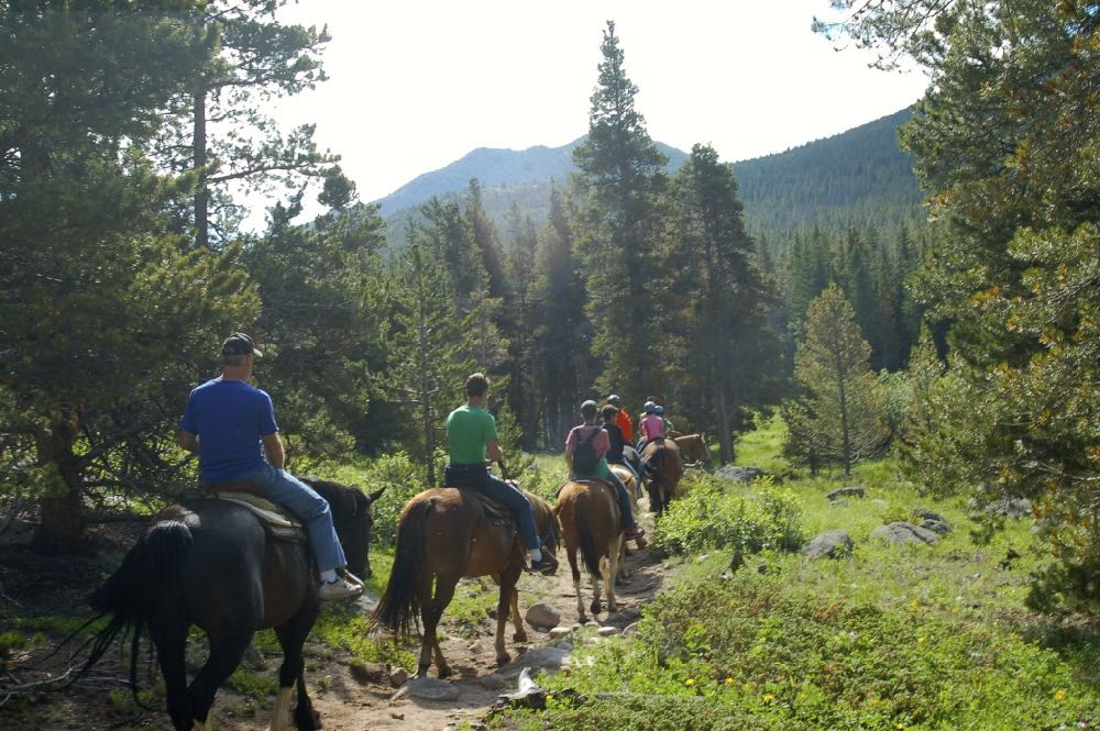 horseback trail ride rocky mountain national park