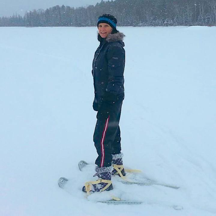 tracy blesi snowshoeing