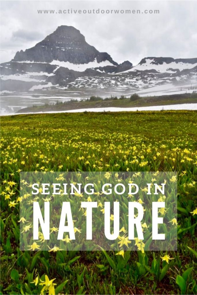 seeing god in nature pin
