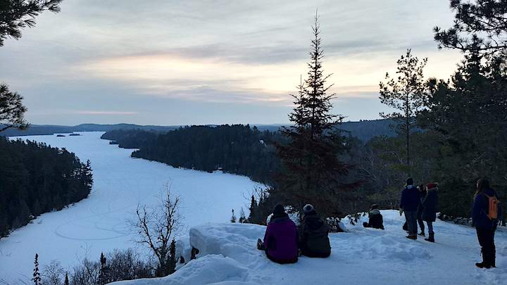 sunrise hike to caribou rock overlook