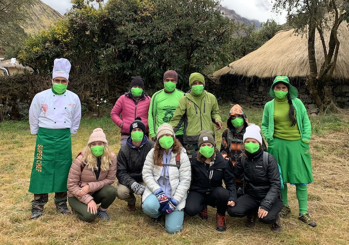 Alpaca Expeditions and hiking crew, bound for machu picchu